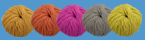 Balls of wool from Clare Wools
