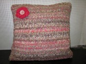Moss Stitch Border Cushion
