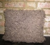 Shaggy Knitted Cushion